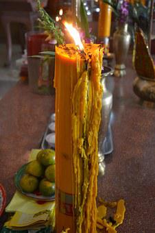 Candle, Yellow, Flame, Celebration, Decoration, Fire