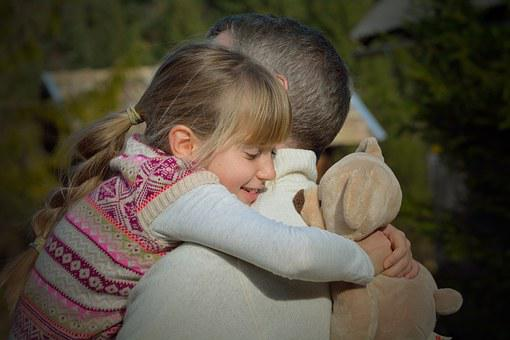 Father, Daughter, Child, Man, Hug, See You Again, Happy