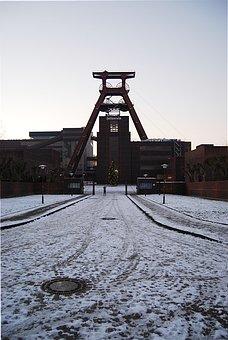 Bill, Zollverein, Headframe, Stop Mountain, Mine, Old