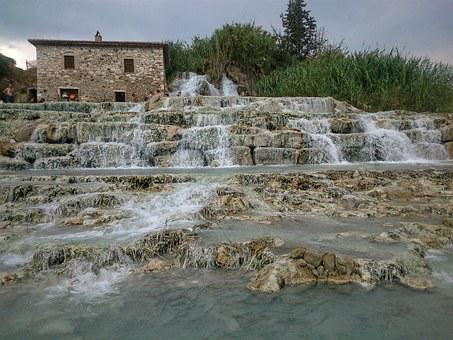 Saturnia, Spa, Tuscany, Italy, Natural, Health