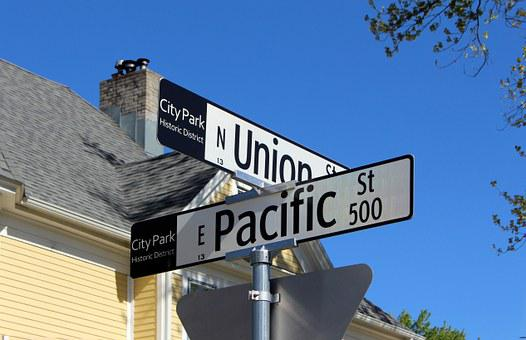 Union, Pacific, Street, Signs, Historic, District