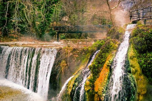 Waterfall, Nature, Trees, Forest, Water, Landscape