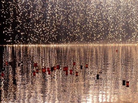 Fireworks, Candles, Lights Serenade, Lights, River