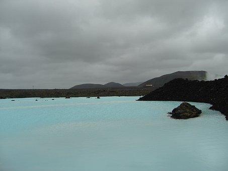 Blue Lagoon, Iceland, Turquoise, Nature, Atmospheric