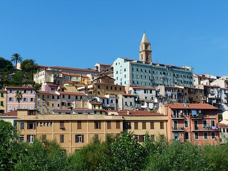 Ventimiglia, Old Town, Roofs, Homes, City, North Italy