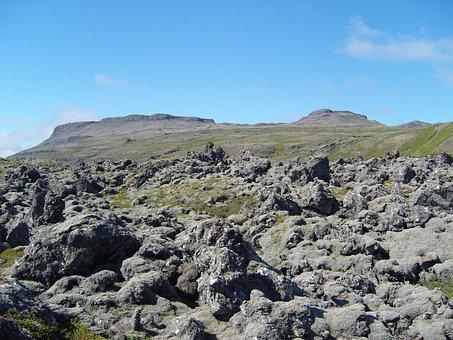 Iceland, Lava, Volcanic Rock, Petrified, Wasteland