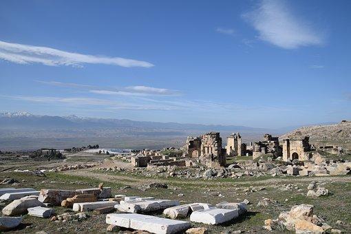 Hierapolis Of Phrygia, Ruin, Ancient, City, Pamukkale