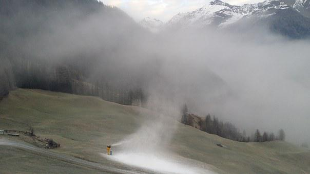 Snow, Snow Cannon, Sölden, Winter Sports, Snow Arm