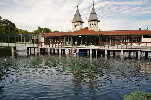 Hevíz, The Thermal Lake, Bathing, Hungary, Spa, Water