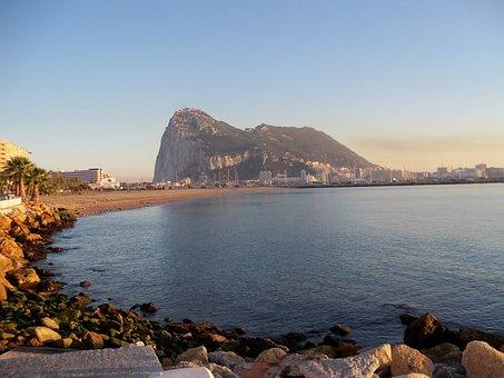 Gibraltar, Spain, Rock, Algeciras, Sea, Shore