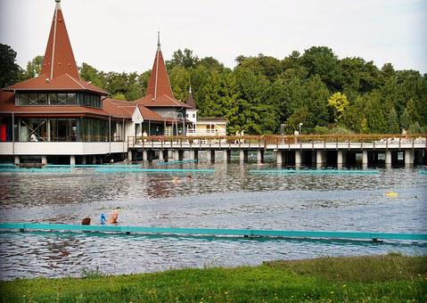 Hevíz, The Thermal Lake, Hungary, Spa, Bathing