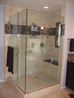 Shower, Bathroom, Large, Spa, Marble, Tile