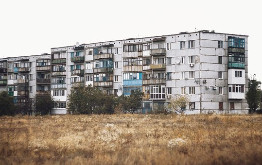 Architecture, Building, Grass, Old, Trees, Well-worn