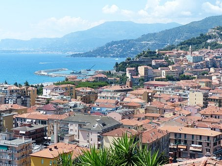 Ventimiglia, Roofs, Houses, City, North Italy
