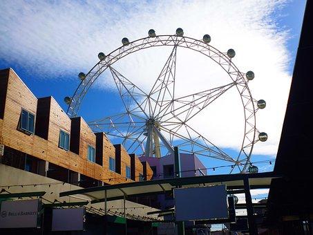 Ferris Wheel, Melbourne, Attraction, Sea, Building