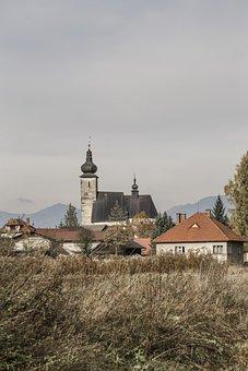 Town, Village, Small, Autumn, Fall, Winter, Mountains