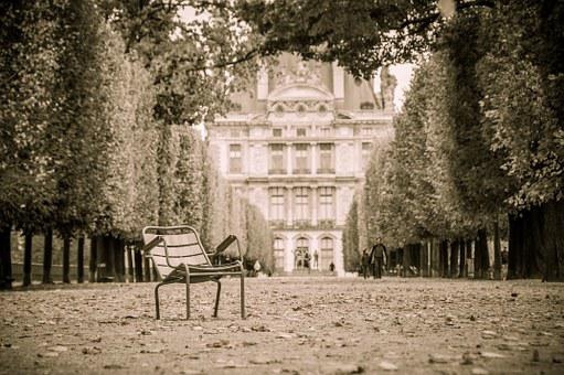 Paris, Tuileries, Park, Avenue, Chair