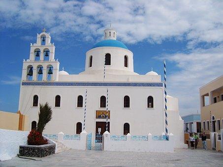 Church, Orthodox Church, Greece, Blue, White, Island