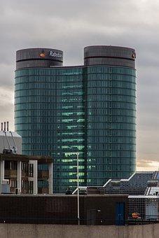 Bank, Building, Rabobank, Financial Sector, Glass