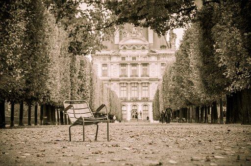 Paris, Tuileries, Park, Avenue, Chair