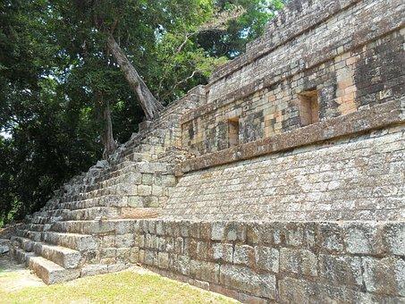 Honduras, Tourism, Ruins, Copán, Stones, Stelae