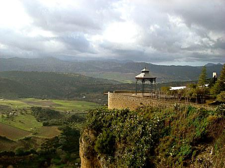 Ronda, Spain, Countryside, Travel, Gazebo, Greenery
