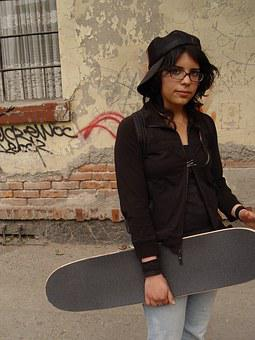 El Chopo, Girl, Skater, Cute