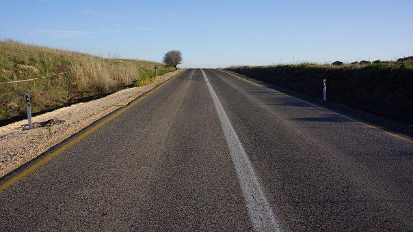 Road Trip, Highway, Destination, Straight, Way, Forward