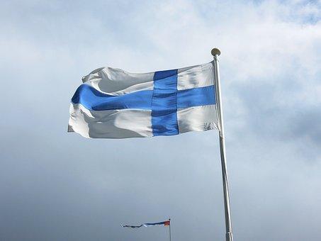 Flag, Blue, White, Finnish, Flag Of Finland