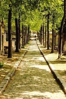 France, Paris, Cemetery, Sunlight