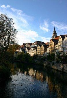 Tübingen, Historic Center, Neckar, Houses, Old