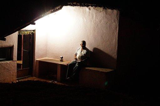 Village, Night, Common Man, House, Dinner, Simplicity