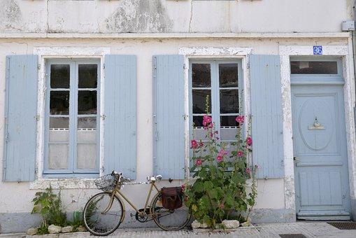 House, Retro, France, Ile D'oléron