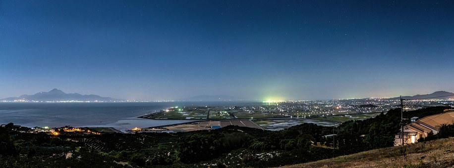 Japan, Kumamoto, Kawachi, Night View, Sea, Star, Sky
