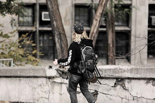 Skater, Young, Teen, Teenager, Walking, Lifestyle