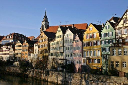 Tübingen, Neckar, Houses, Historic Center, Old