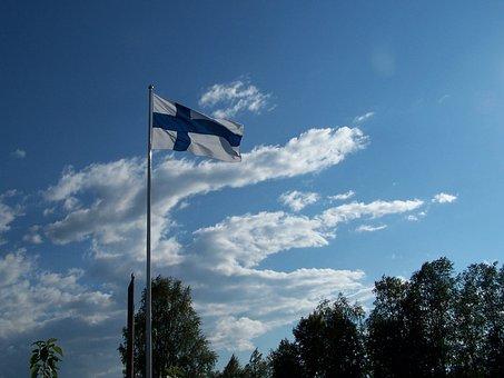 Finnish, Flag, Oulu, Finland
