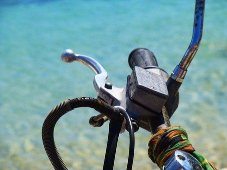 Motorcycle Handlebar, Brake, Sea, Throttle Lever