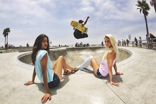 Skateboard, Skate Park, Skater, Boy, Half-pipe, Jump