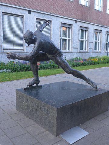 Trontheim, Sculpture, Speed Skater