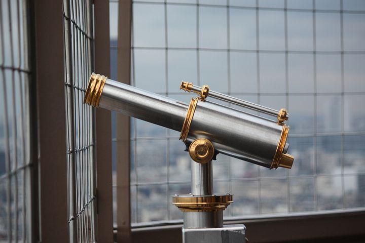 Binoculars, Long Eiffel Tower View, Telescope