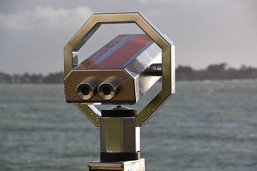 Telescope, Binoculars, Panoramic, Metal, Tourism