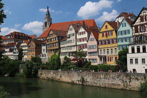 Tübingen, City, Historic Center, Historically, Neckar