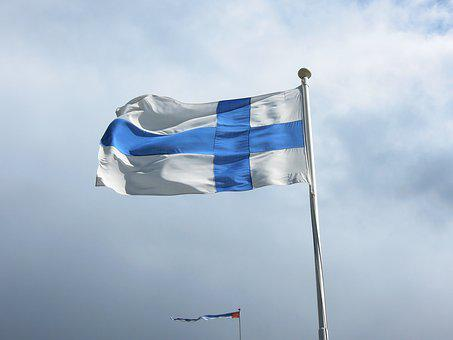 Flag, Blue, White, Finnish, Flag Of Finland