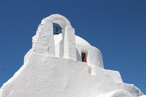Mykonos, Greece, Greek Island, White, Vacations, Island