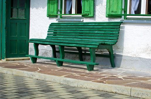 Wooden Bench, Bank, Bench, Click, Seat, Rest, Home, Hof