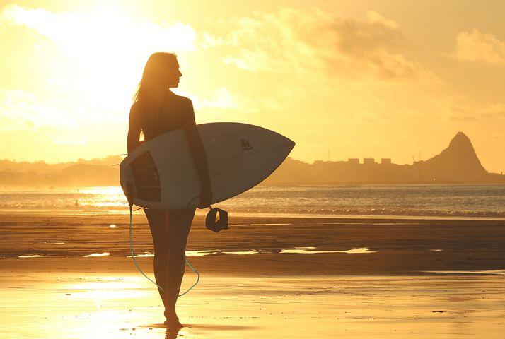 Beach, Clouds, Dawn, Girl, Ocean, Recreation, Sand, Sea