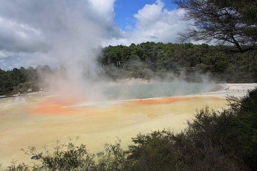 Hot Springs, Rotorua, Volcanic, Geothermal, Boiling