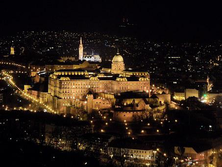 Budapest, City At Night, Castle, Night, Light