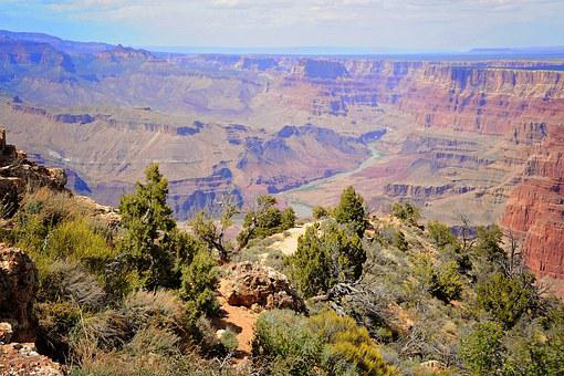 Grand, Canyon, Arizona, Landscape, Desert, Nature